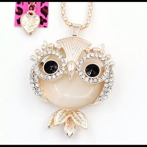 Reduced Betsey Johnson White Chubby Owl